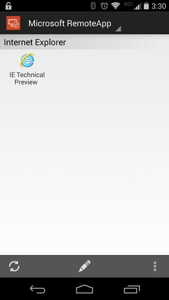 اینترنت اکسپلورر روی اندروید IE