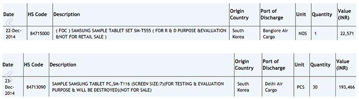 سامسونگ در حال تست Galaxy tab 5 10.1