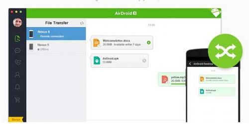 ارائه شدن نسخه سوم نرم افزار airdroid