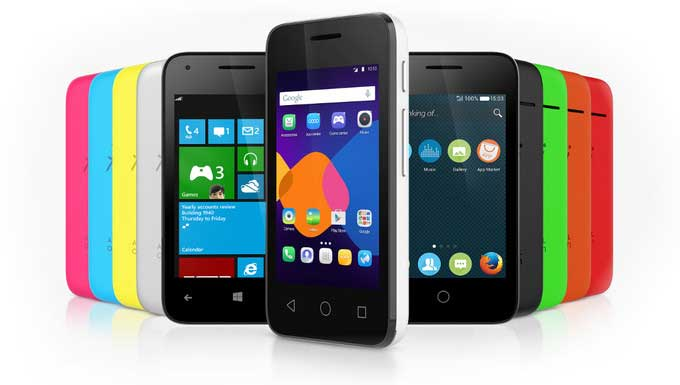 سری pixi 3 آلکاتل با سیستم عامل های مختلف موبایلی