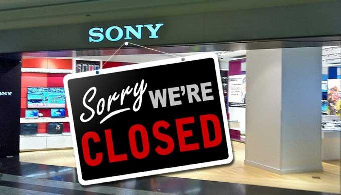 تعطیلی هر 15 فروشگاه سونی در کانادا