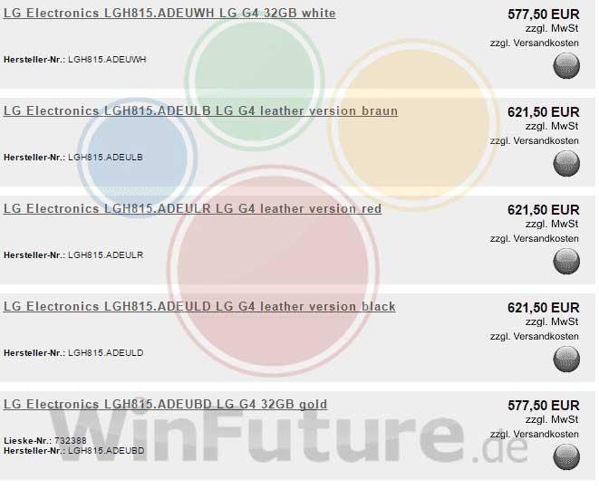 قیمت ارزان تر G4 نسبت به S6