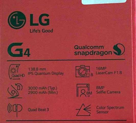 جعبه LG G4