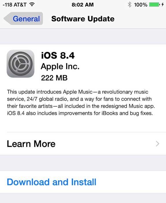 ارائه ios 8.4 با سرویس اپل موزیک
