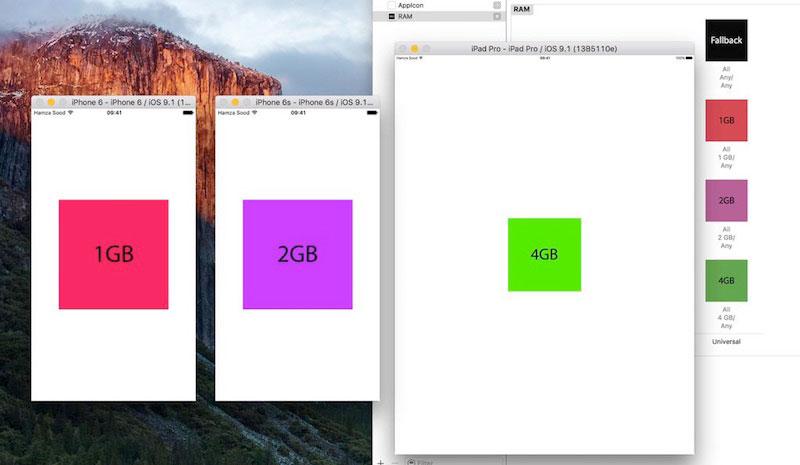 حافظه رم - تایید سایز رم در آیفون های 6s و 6s plus و ipad pro