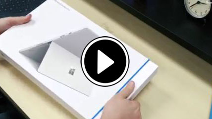 بازگشایی جعبه مایکروسافت Surface Pro 4