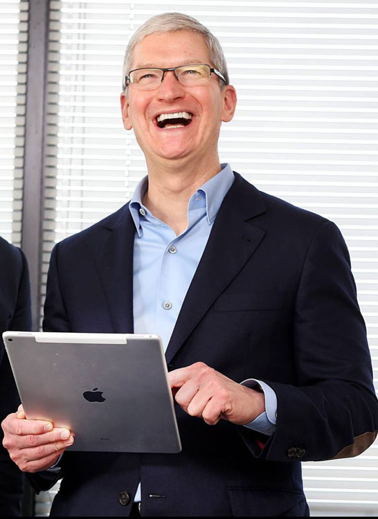 رد شدن ترکیب ipad و رده مک بوک توسط تیم کوک