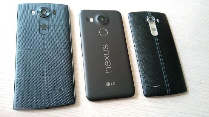 hands on گوشی های ال جی v10 و نکسوس 5X