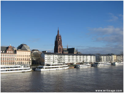 frankfurt Main River Bank and Dom
