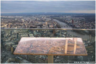 Frankfurt from Main Tower view